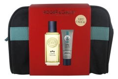 Roger & Gallet Case L'Homme Vétyver Eau de Toilette 100ml + L'Homme Menthe Hair Face and Body Shower Gel 50ml Free