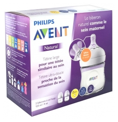 Avent Natural 2 Baby Bottles 125ml 0 Months +