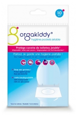 Orgakiddy Disposable Toilet Seat Covers 10 Individually Wrapped