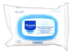Mustela Normal Skin Cleansing Wipes Travel Size 25 Wipes