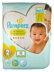 Pampers New Baby Premium Protection 31 Nappies Size 2 (3-6kg)