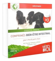 Vétobiol Tablets Intestinal Hygiene For Dog and Puppy 3 Tablets