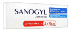 Sanogyl Soin Bi-Fluor Prévention Caries Lot 2 x 75 ml