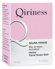 Qiriness Sauna Visage Herbal Facial Steam Bater 10 Tablets x 8g