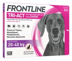 Frontline TRI-ACT Chiens 20-40 kg 3 Pipettes