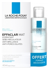 La Roche-Posay Effaclar Mat Seboregulating Moisturiser 40ml + Effaclar Purifying Foaming Gel 50ml Free