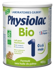 Physiolac Bio 1 From 0 to 6 Months 400g