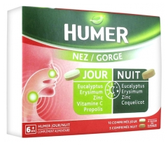 Humer Nose/Throat 10 Day Tablets + 5 Night Tablets