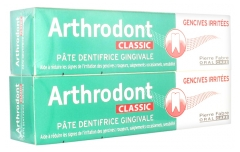 Arthrodont Classic Pâte Dentifrice Gingivale Lot de 2 x 75 ml