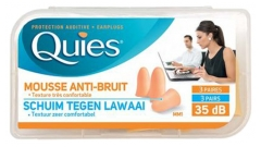 Quies Rubber Foam Ear Plugs 3 Pairs