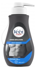 Veet Men Depilatory Cream Sensitive Skins 400ml