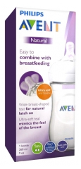 Avent Natural Baby Bottle 260ml 1 Month and +