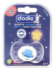 Dodie Sucette Anatomique Nuit Silicone +6 Mois N°17