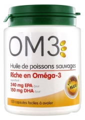 OM3 Huile de Poissons Sauvages 120 Capsules