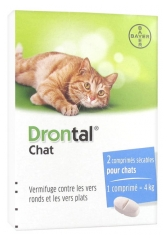 Bayer Drontal Chat 2 Tabletas Asegurables