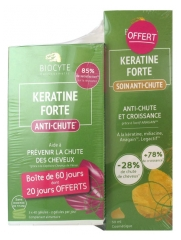 Biocyte Keratine Forte Anti-Hair Loss 3 x 40 Capsules + Keratine Forte Anti-Hair Loss Treatment 50ml Free