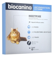 Biocanina Insectifuge Spot-On Chat 2 Pipettes de 2 ml