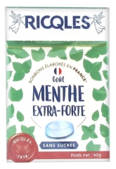 Ricqlès Sugar Free Candies Extra-Strong Mint 40g