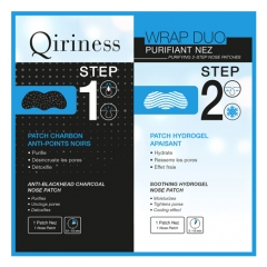 Qiriness Wrap Duo Purifying 2-Step Nose Patches