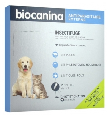 Biocanina Insect Repellent Spot-On Puppies and Kitten 2 Pipettes of 1ml