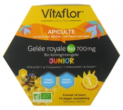 Vitaflor Organic Royal Jelly 700mg Défense+ Junior 14 Doses