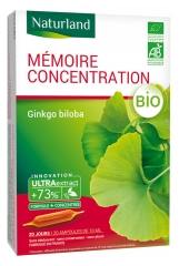 Naturland Organic Memory Concentration 20 Drinkable Phials of 10ml