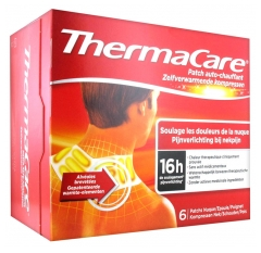 ThermaCare Patch Auto-Chauffant 16h Nuque Epaule Poignet 6 Patchs