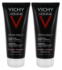 Vichy Homme MAG-C Invigorating Moisturising Shower Gel 2 x 200ml