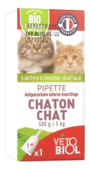 Vétobiol Pipette Chaton Chat 500 g à 5 kg 1 Pipette
