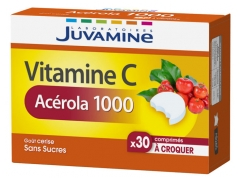 Juvamine Vitamin C Acerola 1000 30 Tablets to Crunch
