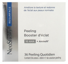 NeoStrata Resurface Peeling Booster d'Eclat 10 AHA & Aminofil 36 Cotons + Solution Peeling 60 ml