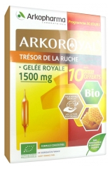 Arkopharma Arko Royal Treasure of the Hive Royal Jelly 1500mg Bio 20 Phials + 10 Phials Offered