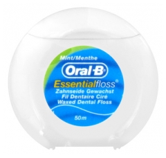 Oral-B Essential Floss Waxed Dental Floss Mint Taste