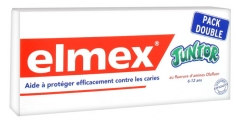 Elmex Dentifrice Junior Lot de 2 x 75 ml