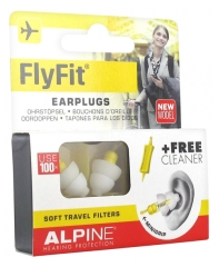 Alpine Hearing Protection Flyfit Earplugs + 1 Cleaner