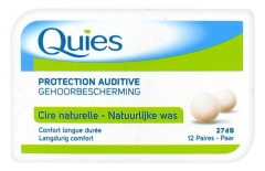 Quies Natural Wax Ear Plugs 12 Pairs