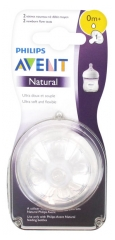 Avent Natural 2 Medium Flow Teats 0 Month and +