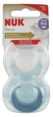 NUK Genius 2 Silicon Soothers 0-2 Months