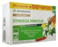 Arkopharma Arkofluides Synergie Minceur Bio 20 Ampoules + 10 Ampoules Offertes