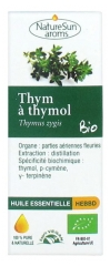 NatureSun Aroms Organic Essential Oil Thymol Thyme (Thymus Zygis) 10ml