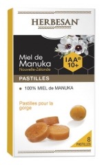 Herbesan Manuka Honey Lozenges 100% Honey IAA 10+ 8 Lozenges