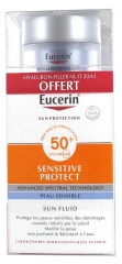 Eucerin Sun Protection Sensitive Protect Sun Fluid SPF 50+ 50ml + Hyaluron-Filler Night Care 20ml Free