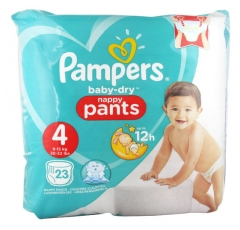 Pampers Baby-Dry 23 Couches-Culottes Taille 4 (8-15 kg)