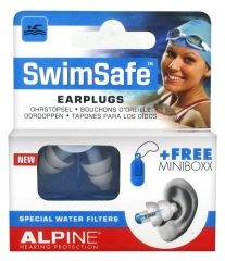 Alpine Hearing Protection Swimsafe Bouchons d'Oreille + 1 Minibox