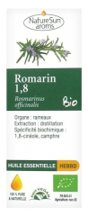 NatureSun Aroms Organic Essential Oil Rosemary 1,8 (Rosmarinus Officinalis) 10ml