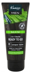 Kneipp Ready To Go Champú- Gel de Ducha 2 en 1 Hombre 200 ml