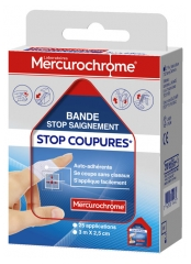 Mercurochrome Stop Bleeding Stop Cuts Tape 3m x 2,5cm
