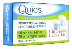 Quies Protection Auditive Silicone Anti-Bruit 3 Paires