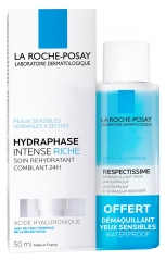 La Roche-Posay Hydraphase Intense Riche 50 ml + Respectissime Démaquillant Yeux Waterproof 50 ml Offert