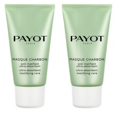 Payot Pâte Grise Masque Charbon Ultra-Absorbent Mattifying Face Mask 2 x 50ml
